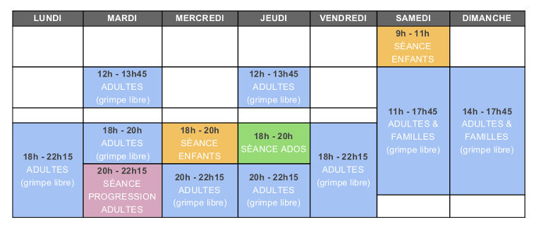 G13 TableauHoraires